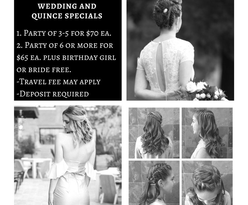 Wedding and Quince Specials